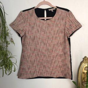 Banana Republic woven textured t-shirt blouse